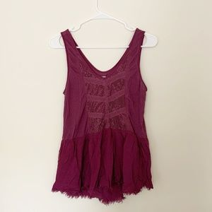 Urban Outfitters Kimchi Blue Burgundy Lace Blouse